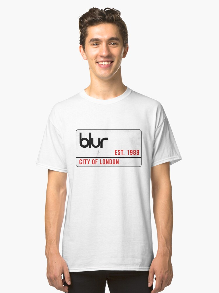 Blur - City of London street sign Classic T-Shirt Front