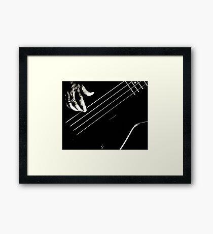 Bass Pickin' Framed Print