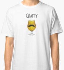 Crafty Funny Craft Beer Mustache Brewskie Suds Lover Design Classic T-Shirt