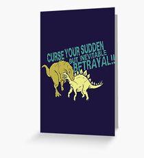 Betrayal Greeting Card