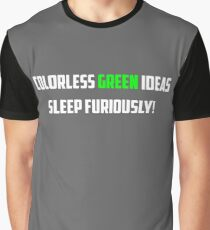 NLP: Noam Chomsky Colorless Green Ideas Sleep Furiously  Graphic T-Shirt
