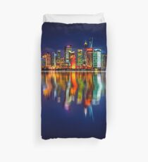 City skyline reflections 17 06 2015 Duvet Cover