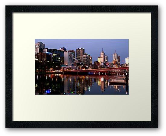 Melbourne City lights by Rosina  Lamberti