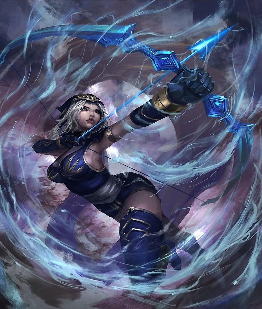 League of Legends Ashe / Custom Ashe Art by shayapig