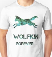 Sparkly Wolf Kin forever Unisex T-Shirt