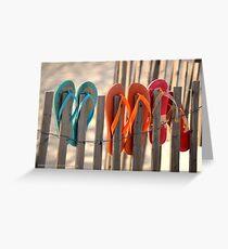 Flip-Flops | Westhampton Beach, New York Greeting Card