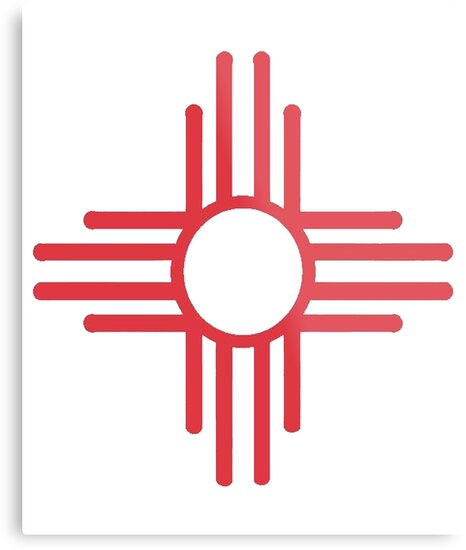 Zia Symbol New Mexico Metal Prints By Newmexicotees Redbubble