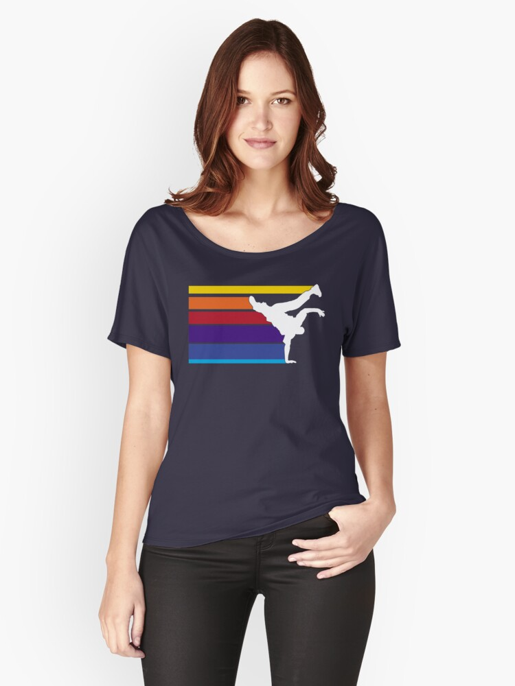 Rainbow Break dance Women's Relaxed Fit T-Shirt Front