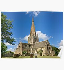 England - Oxfordshire - Bampton - St. Mary's Church Poster