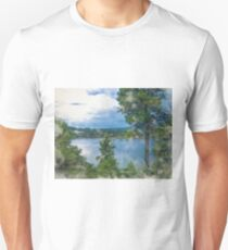 Before the Storm at the Lake  Unisex T-Shirt