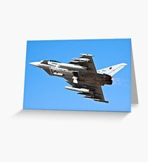 Italian Air force Eurofighter Typhoon in flight Greeting Card