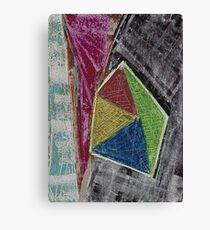 Geometry Oil Pastel Composition Canvas Print