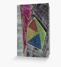 Geometry Oil Pastel Composition Greeting Card