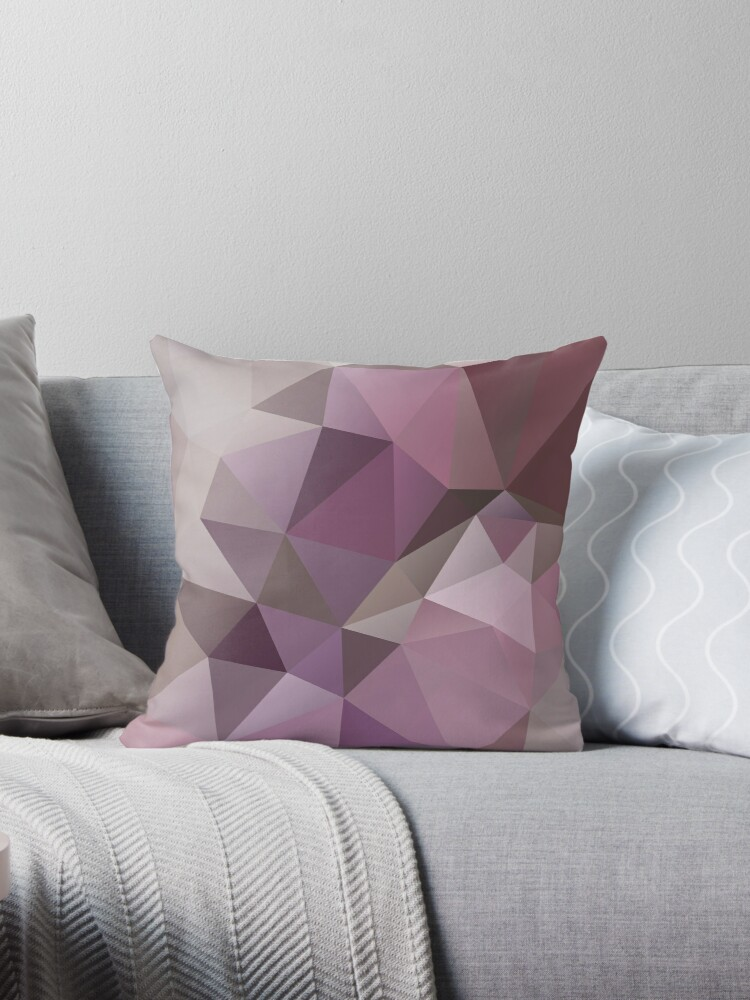 Abstract background of triangles polygon wallpaper in pink beige colors by fuzzyfox