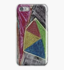 Geometry Oil Pastel Composition iPhone Case/Skin