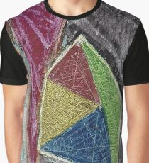 Geometry Oil Pastel Composition Graphic T-Shirt