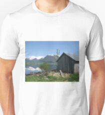 House by the lake in Sogn og Fjordane, Norway T-Shirt