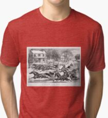 Horses and snow Tri-blend T-Shirt