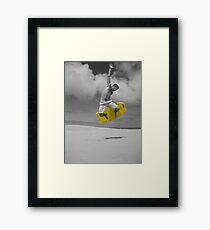 sandboarding man Framed Print