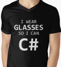 I Wear Glasses So I Can C# T-Shirt
