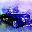 39 Mercury Convertible Watercolour Sketch by ChasSinklier