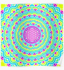 Flower Of Life Mandala 3 Poster