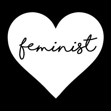 Feminist heart design  by elliegillard