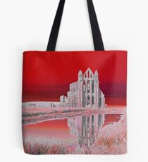 Whitby Abbey (Red) Tote Bag