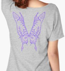 Fairy Wings (Indigo Linework) Women's Relaxed Fit T-Shirt