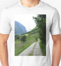 Norwegian road in Sogn og Fjordane T-Shirt