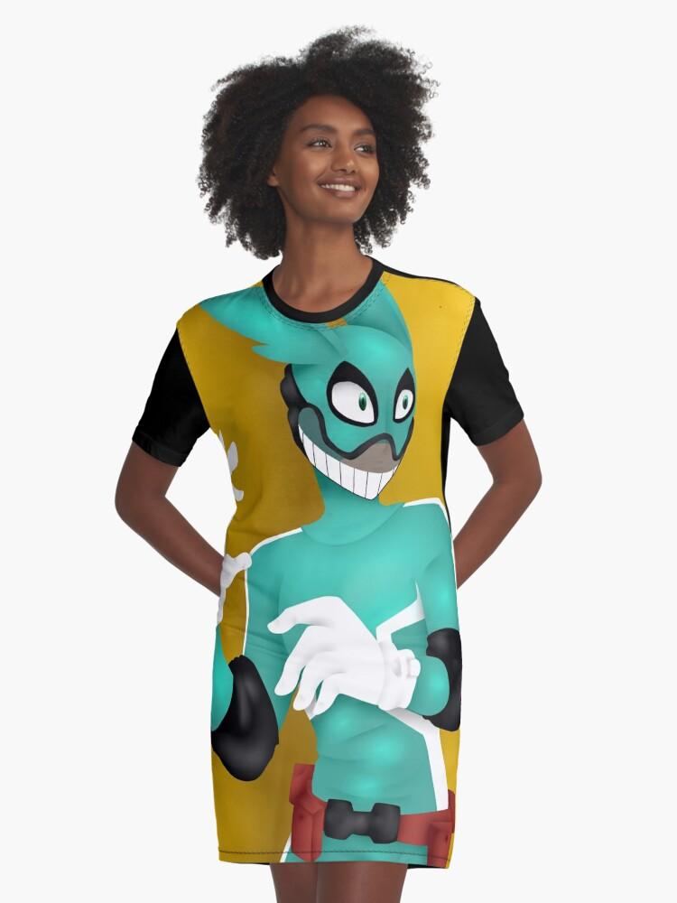 My Hero Academia Hero Deku Graphic T-Shirt Dress Front