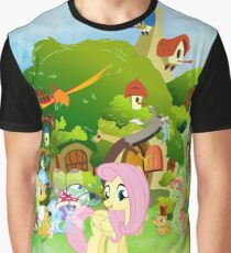 my little pony fluttershy cottage watercolor Graphic T-Shirt