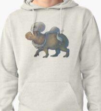 Grey and Capybara Pullover Hoodie