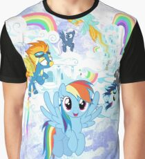 my little pony rainbow dash watercolor Graphic T-Shirt