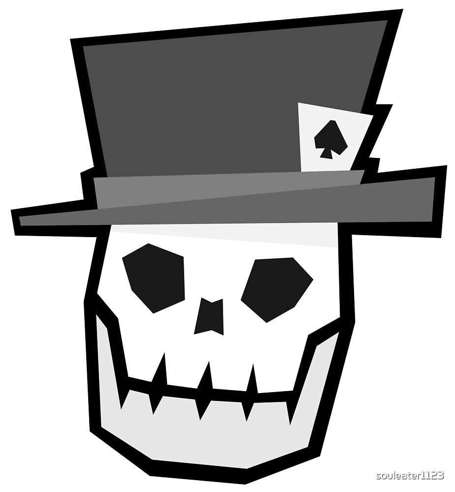 Top Hat Skull by souleater1123