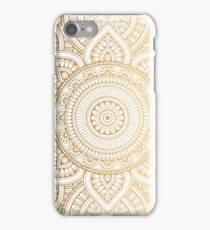Beautiful Gold Mandala Ornament Design iPhone Case/Skin