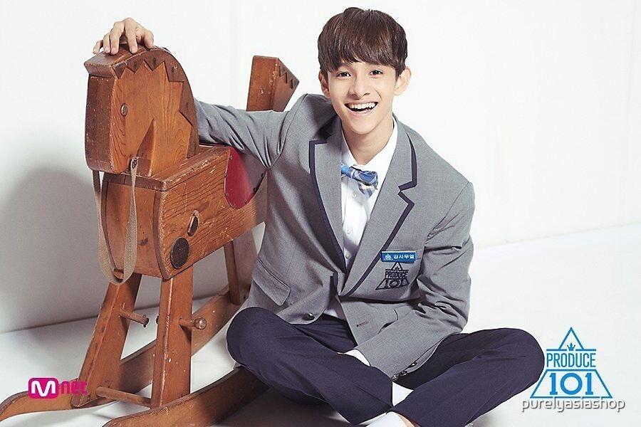 Kim Samuel Produce 101 Kpop Sticker by matchatealeaf store