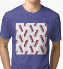 comb seamless doodle pattern Tri-blend T-Shirt