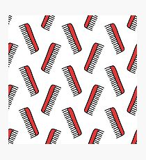comb seamless doodle pattern Photographic Print