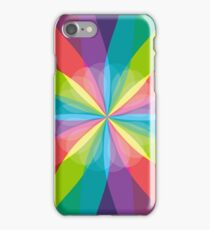Squared Pinwheel of Bright Crayon Colors iPhone Case/Skin