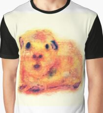 Pip - Abstract Watercolor Guinea Pig Graphic T-Shirt