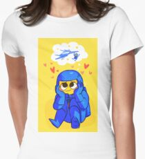 Benny's Spaceship Womens Fitted T-Shirt