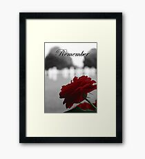 Red Rose Remembrance  Framed Print