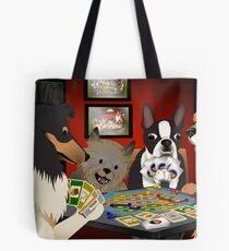 Dogs Playing Settlers of Catan Tote Bag