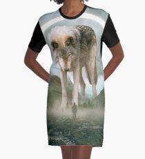 égide   Loup Robe t-shirt