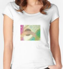 SATURN MOONS Women's Fitted Scoop T-Shirt