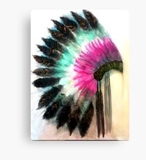 Native American Headress Canvas Print