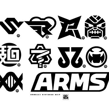 [ARMS] Character Icons T-Shirt by Rukunetsu