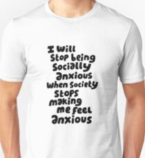 Socially anxious Unisex T-Shirt
