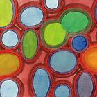 Abstract Moving Round Shapes Pattern  by Heidi Capitaine